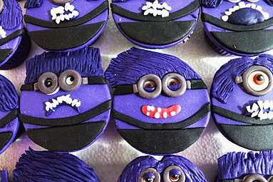 Despicable Me evil minion cupcakes