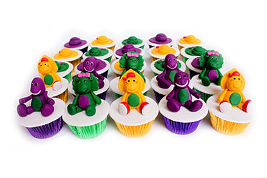 Barney and friends cupcakes