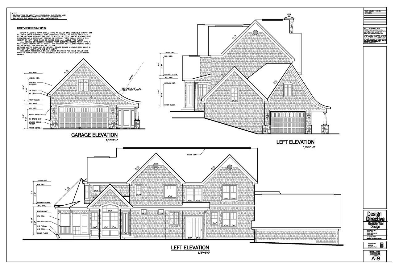 Left Elevation Plan : Design directive residential sample drawings