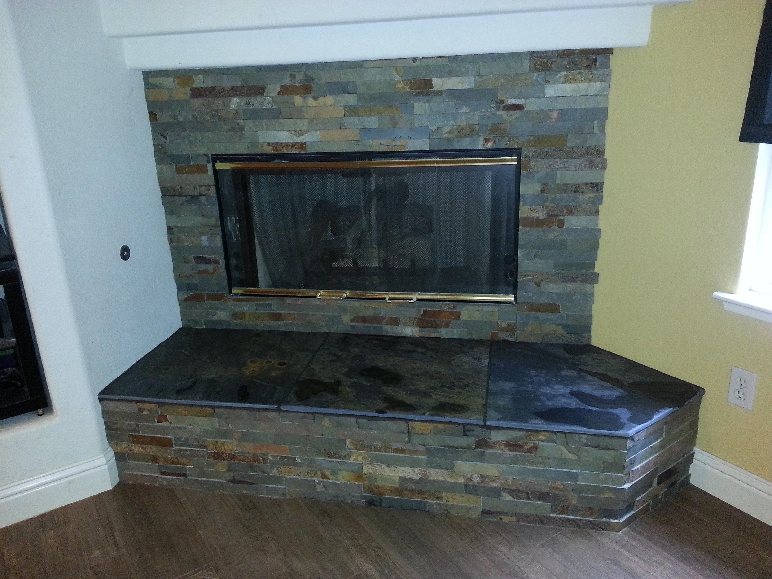 Burnett Tile And Stone Slate Ledger Fireplace