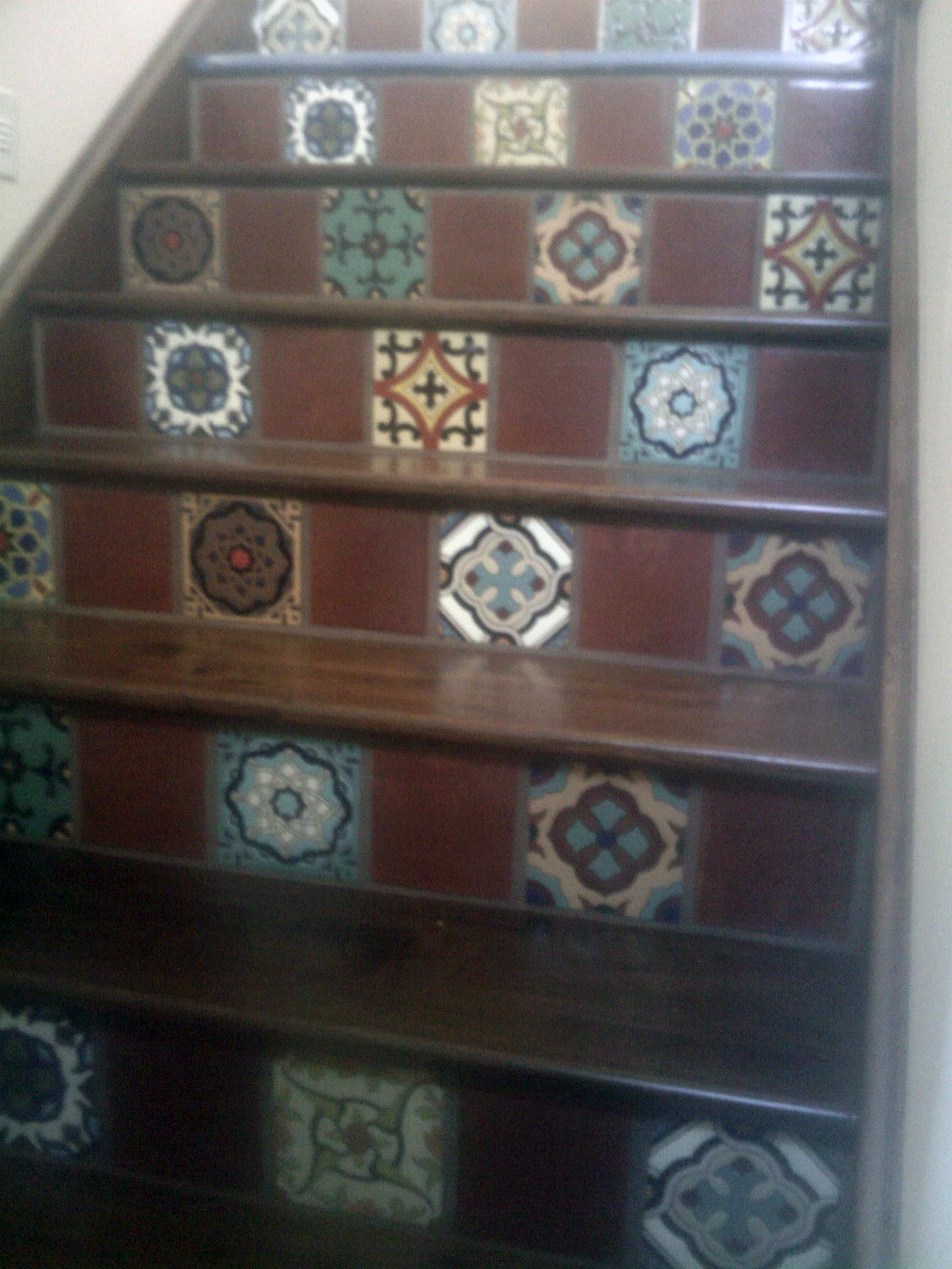 Burnett tile and stone spanish style staircase for Spanish decorative tile