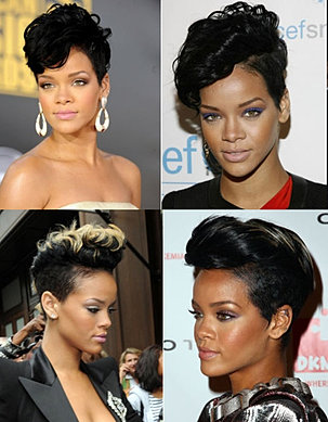 Pictures  Rihanna  Rihanna Hairstyle at the 2009 AMAs
