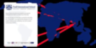 World map highlighting Bangkok