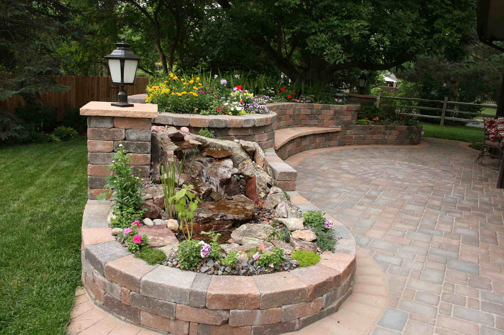 Landscaping Playground Installer Planter With Pondless Water Feature