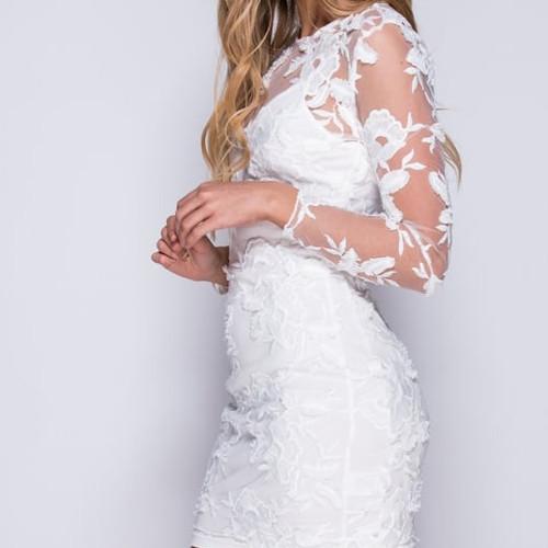 hvid kjole lang