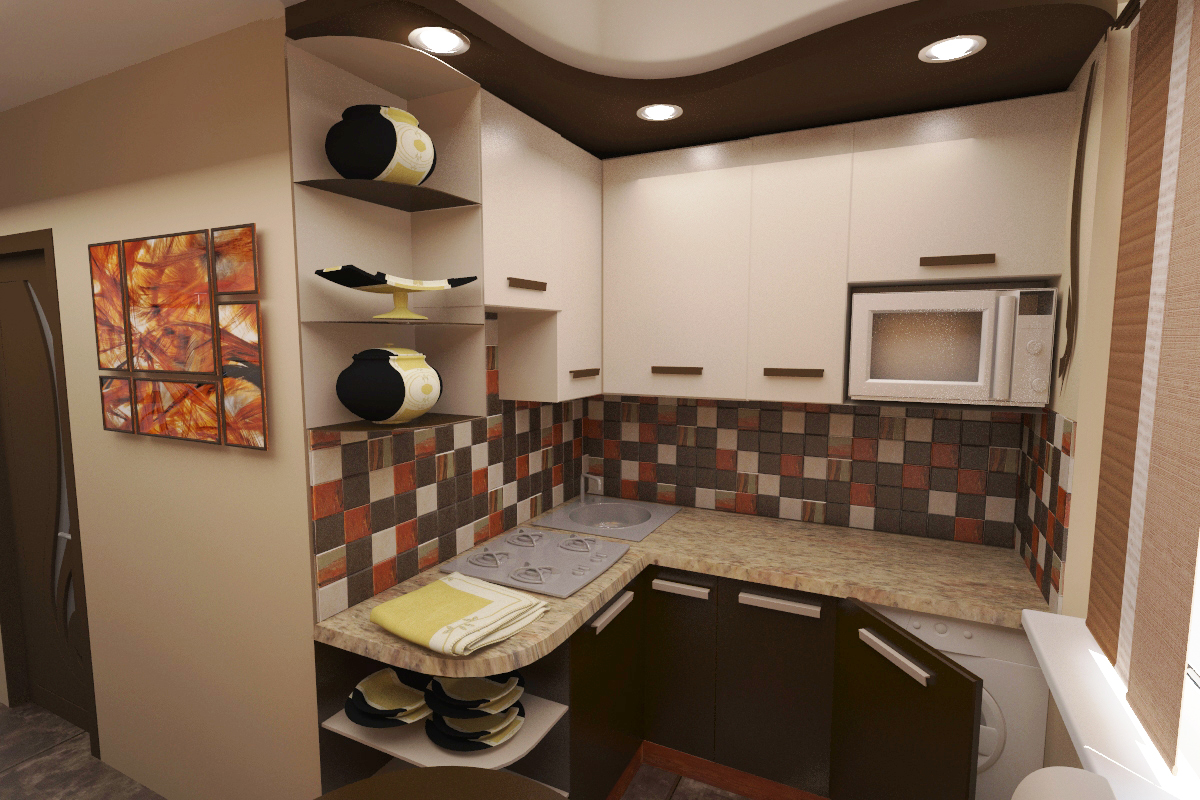 Декоративная штукатурка на кухне фото