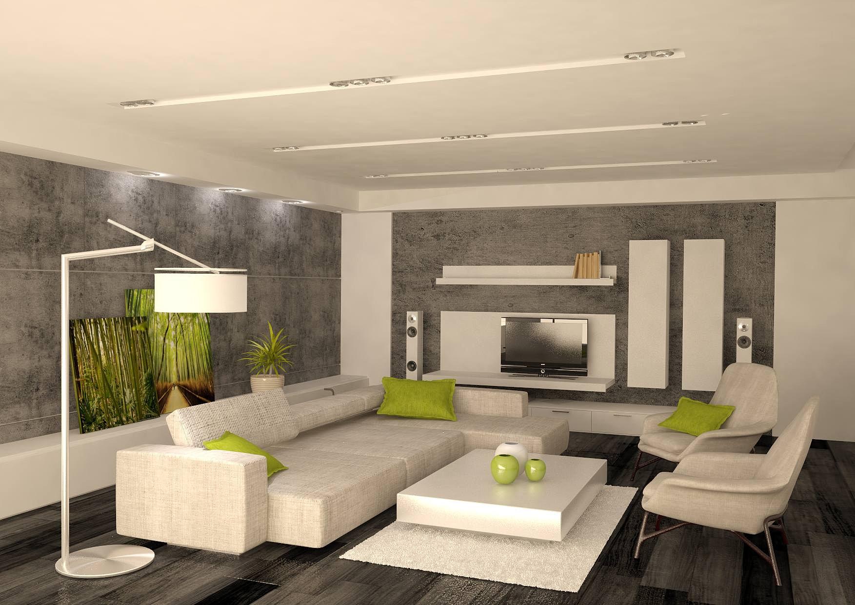 Интерьер дома в стили минимализм