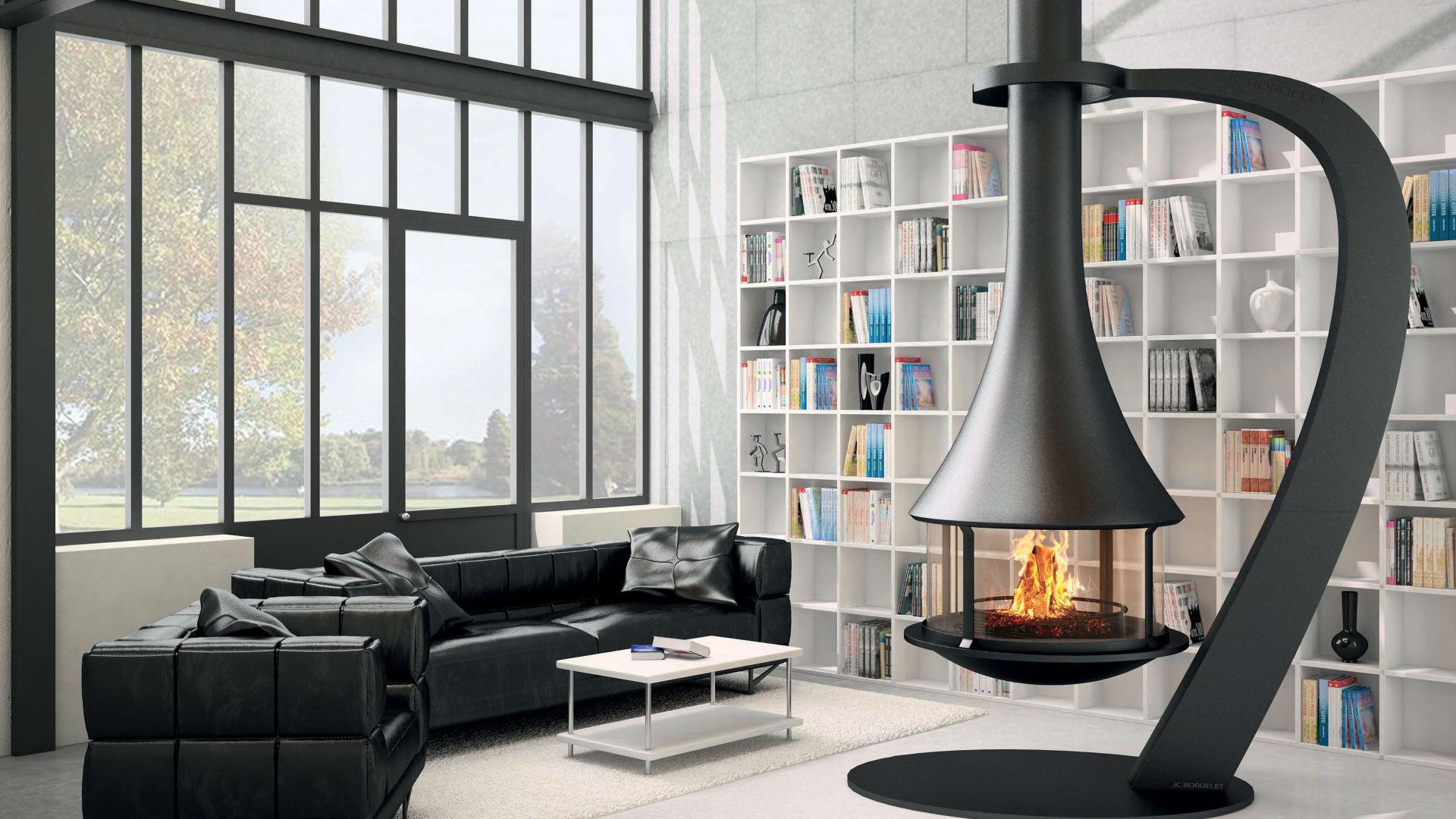 cheminée métallique contemporaine design ou suspendue 13 84 83