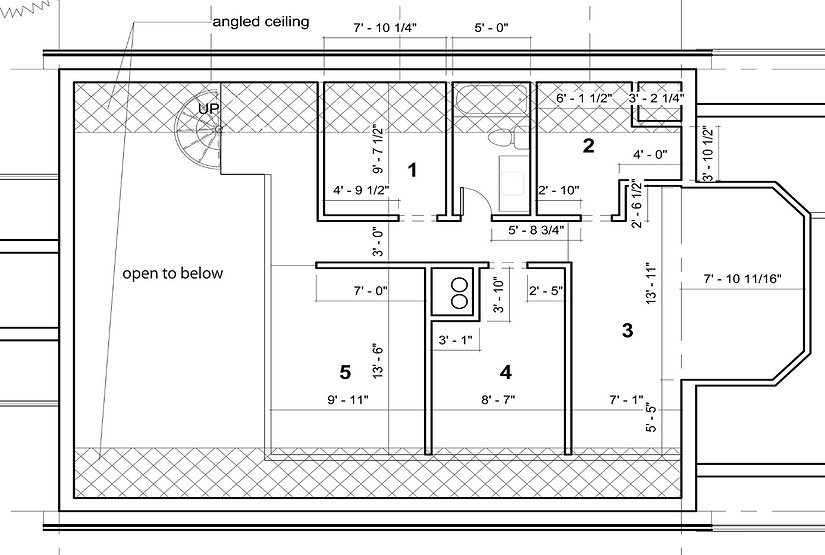floor plan of the Hartman gallery space
