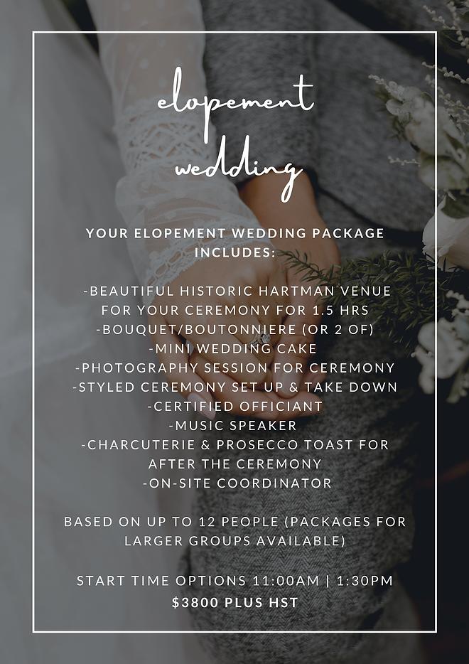 elopement package