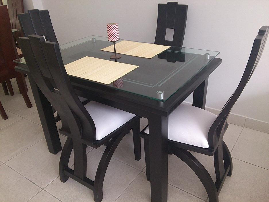 Venta muebles hogar deko economicos calidad fabric for Comedor 4 puestos vidrio