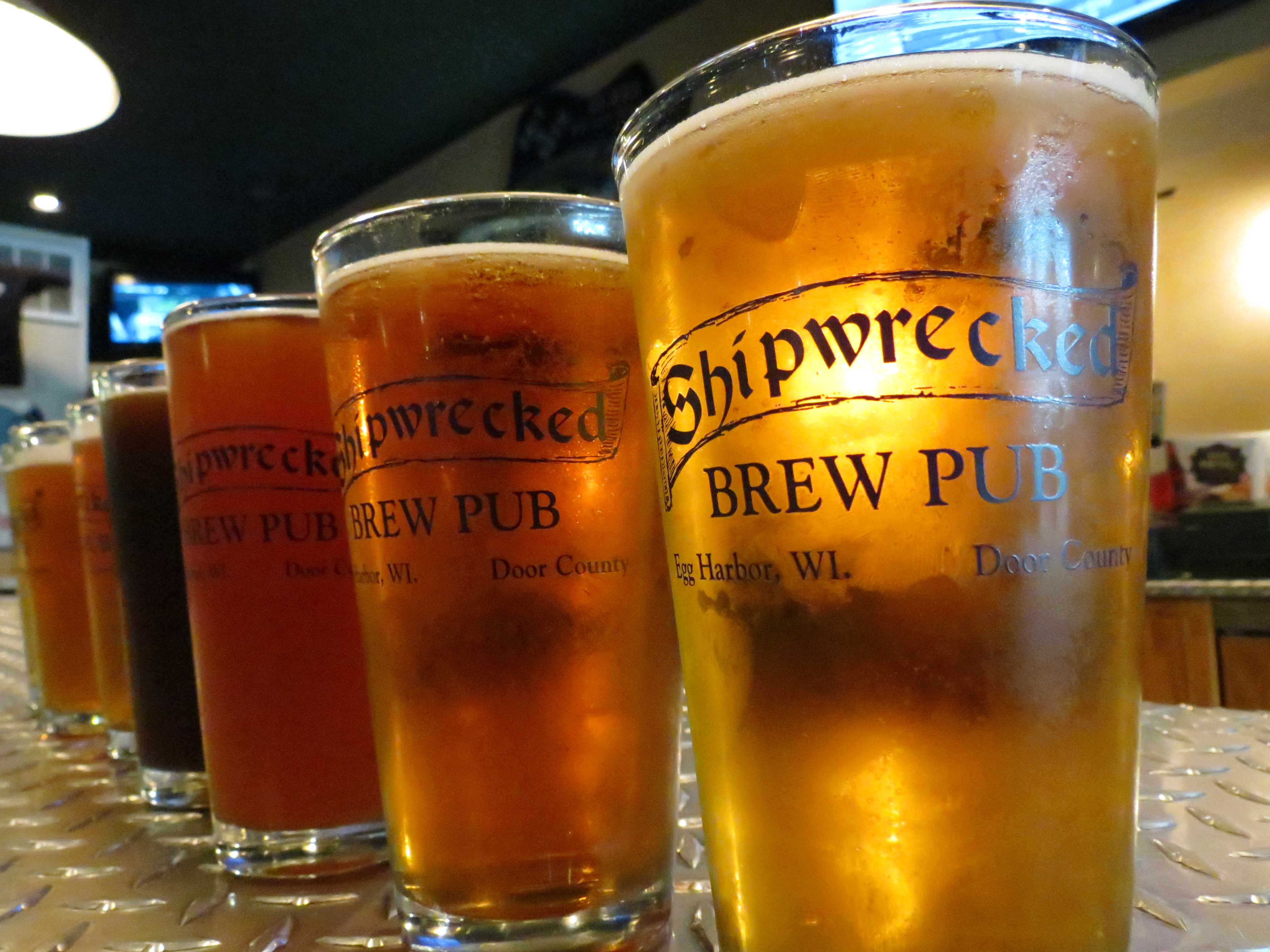 shipwrecked brew pub in downtown egg harbor