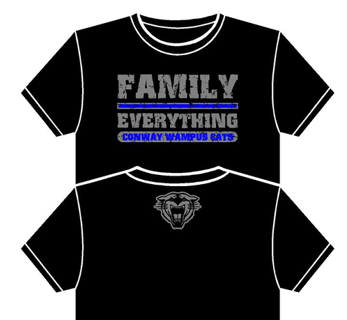 Wampus Cat Family Over Everything Short Sleeve