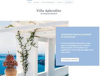 Villa mit Meerblick Template - Geben Sie mit dieser schönen Websitevorlage Ihren Gästen einen Eindruck davon, was diese erfahren werden. Mit großen Bildern und eleganten Galerien zeigen Sie Ihre Villa von der besten Seite und ziehen Gäste aus der ganzen Welt an. Fügen Sie Ihre Bilder und Ihre Texte hinzu und gehen Sie jetzt online!