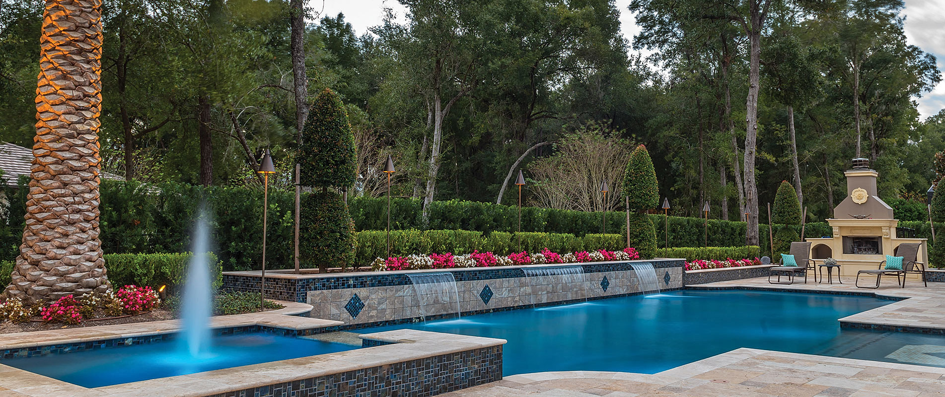 Custom luxury pools in central florida by southern pool for Pool designs florida