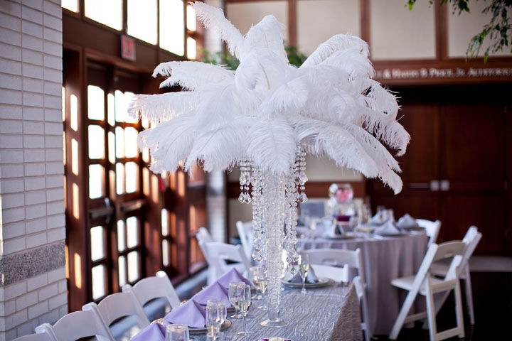 ostrich feather centerpieces rentals lshade rentals and design