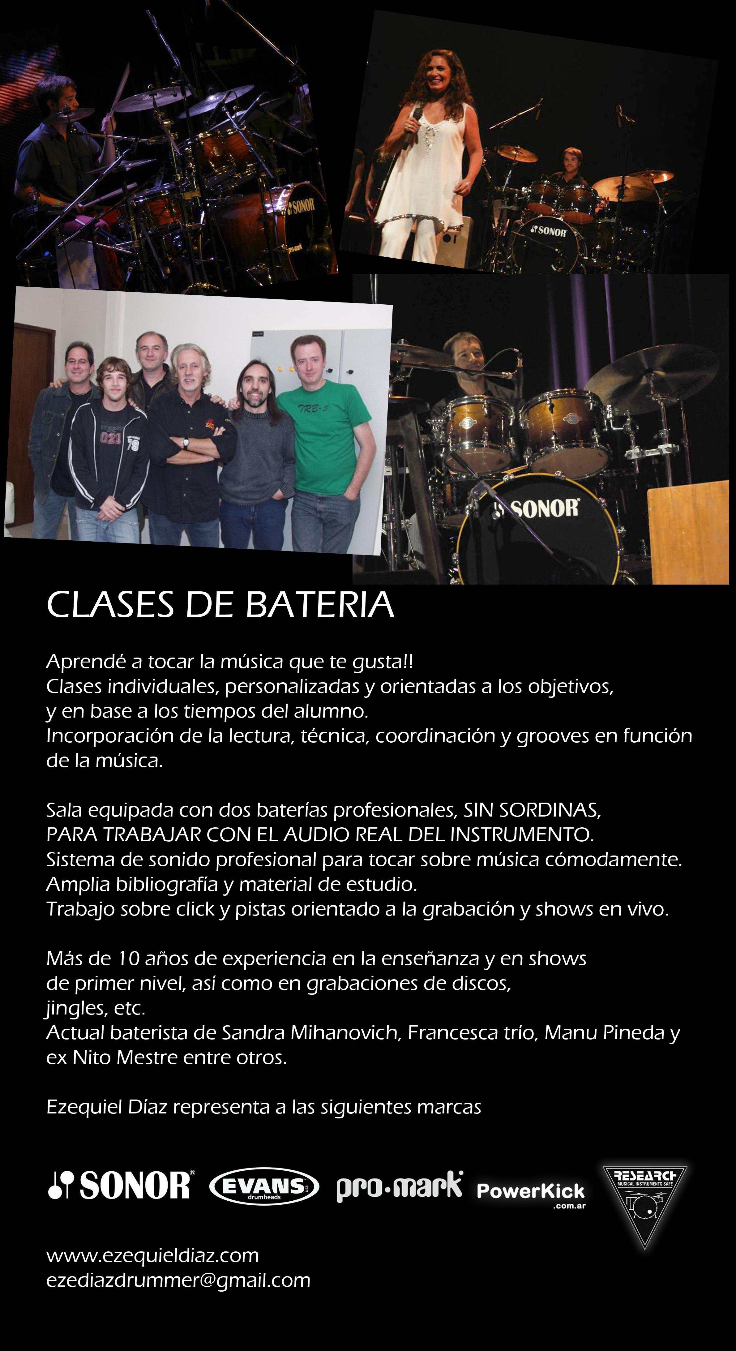 Clases de batería por Ezequiel Díaz