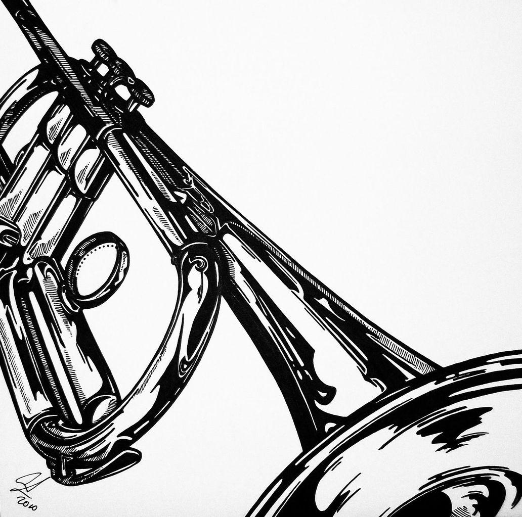 Uncategorized Drawing Of A Trumpet pandiaundre art wix com trumpet before color