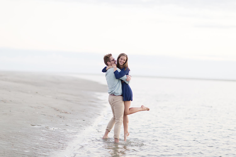 Cute Coastal Engagement Photography