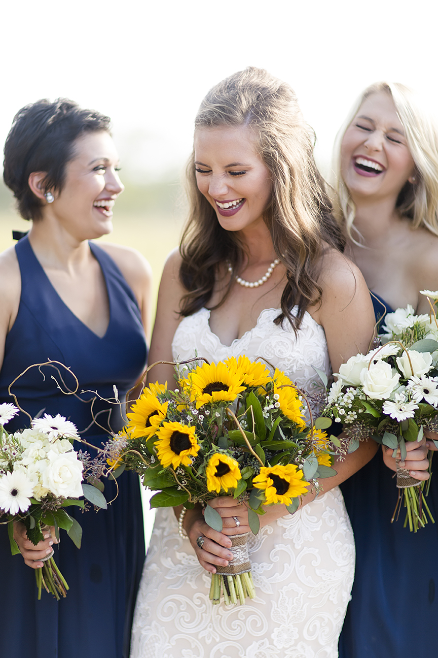Lace and Sunflower Wedding