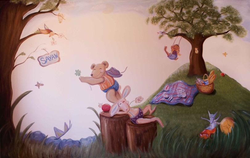 muurschildering totaal sayan  copy