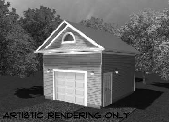 Di16x20a garage canadian stock home plans for Garage plans ontario