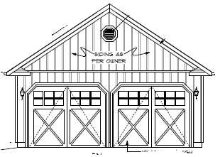 Di24x28l garage canadian stock home plans for Garage plans ontario