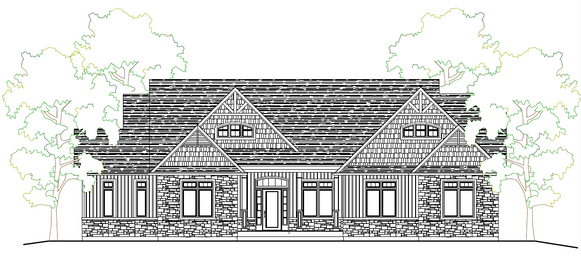 Di2120a bungalow canadian stock home plans ontario for House plans ontario canada