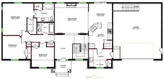 Di1654b bungalow canadian stock home plans ontario for Home plans ontario