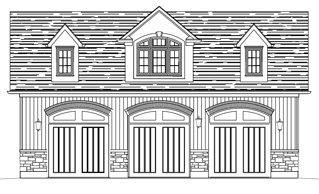 Di40x25a garage canadian stock home plans ontario for Garage plans ontario