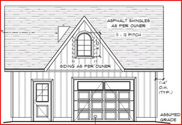 Di24x22b garage canadian stock home plans ontario for Garage plans ontario