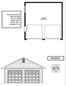 Di22x22a Garage Canadian Stock Home Plans Ontario