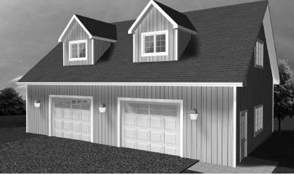 Di28x40h garage canadian stock home plans for California garage plans