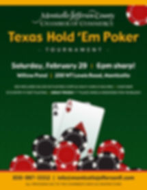 Texas Hold 'Em flyer Monticello flyer. F