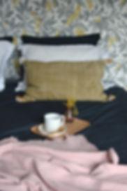 Déco intérieure chambre, plaid mood-accessoires.com
