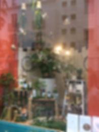 Créa vitrine Jane Jardinerie à Nantes, visual merchandising