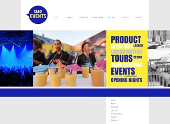 Corporate Events Template - An eye-catching theme featuring vivid colors and modern design awaits your event planning company. This is the ideal place to talk about your services, highlight news items, and share photos of past events. Design a website and get the party started.