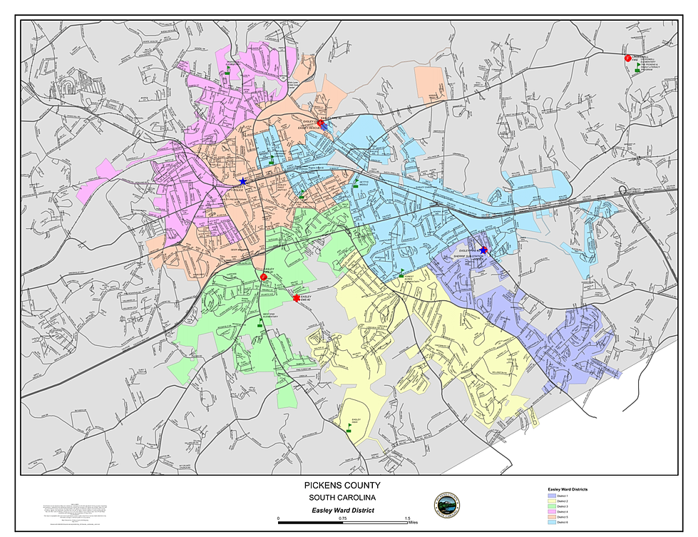City of Easley City Districts Map