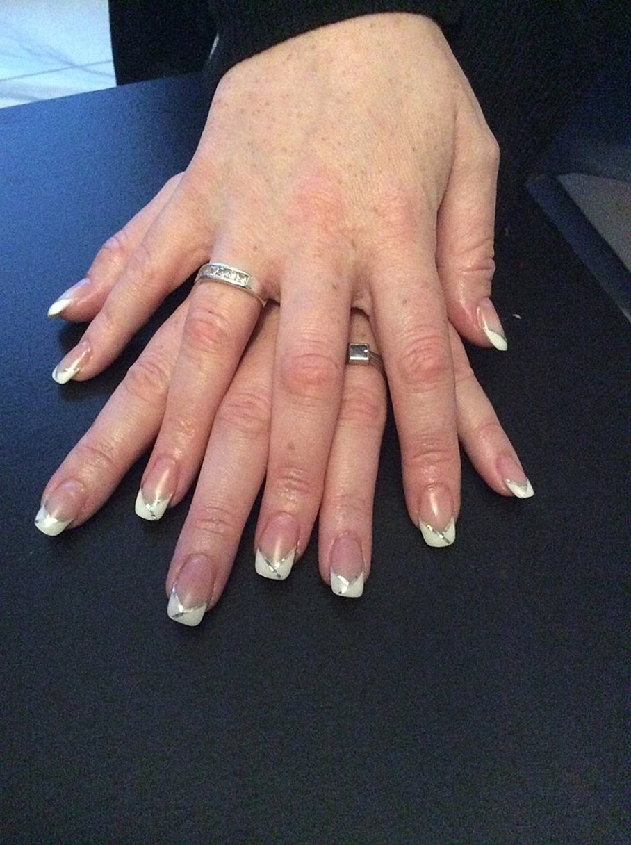 Ongle en gel french blanche naturel - Ongle gel french blanche ...