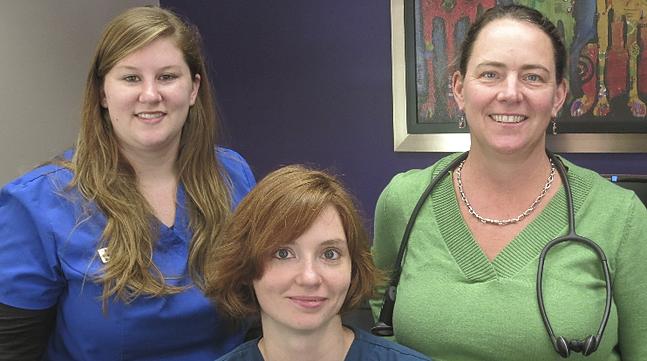 Dr. Sarah Murawski and staff