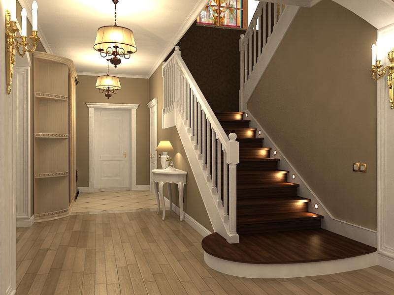 Фото дизайна лестничного коридора