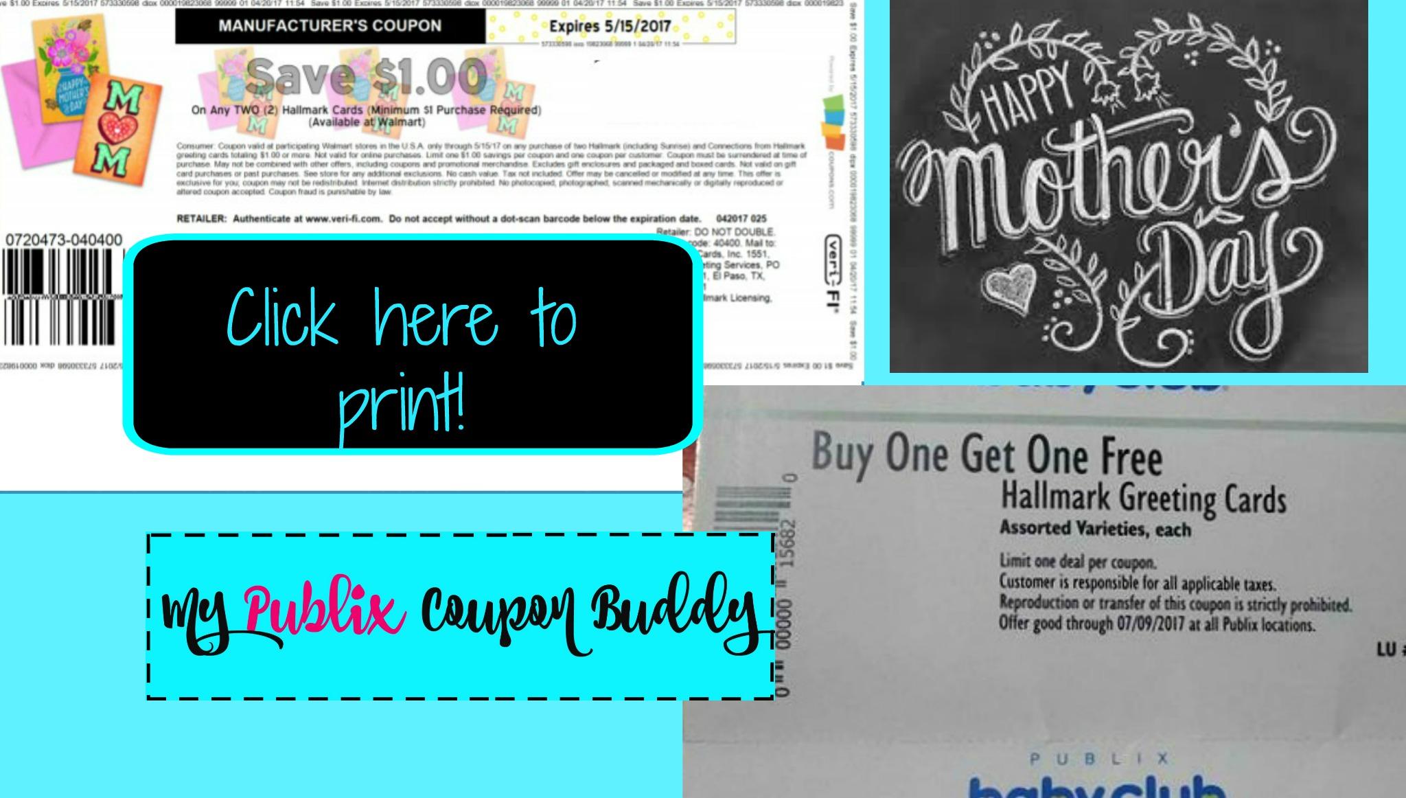 Hot hallmark printable and new publix bogo coupon my publix coupon buddy publix couponing help made easy