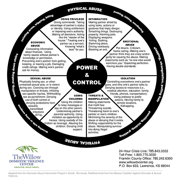 Power And Control Wheel Willow Domestic Violence Center