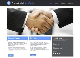 Consultoría estratégica Template - Una refinada plantilla web lista para promover tu institución financiera o consultoría. El diseño nítido y cuidado provee el fondo perfecto para resaltar los servicios, proyectos y cualificaciones profesionales de tu empresa.