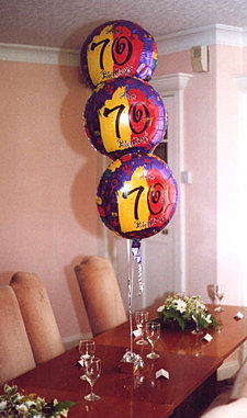 40th Birthday helium balloon table decorations are perfect for table ...