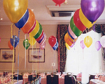 40th Birthday helium balloons, we will set up and display the balloons ...