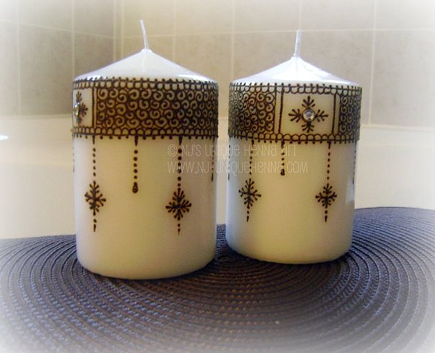 Mehndi For Sale : Henna candles for sale makedes