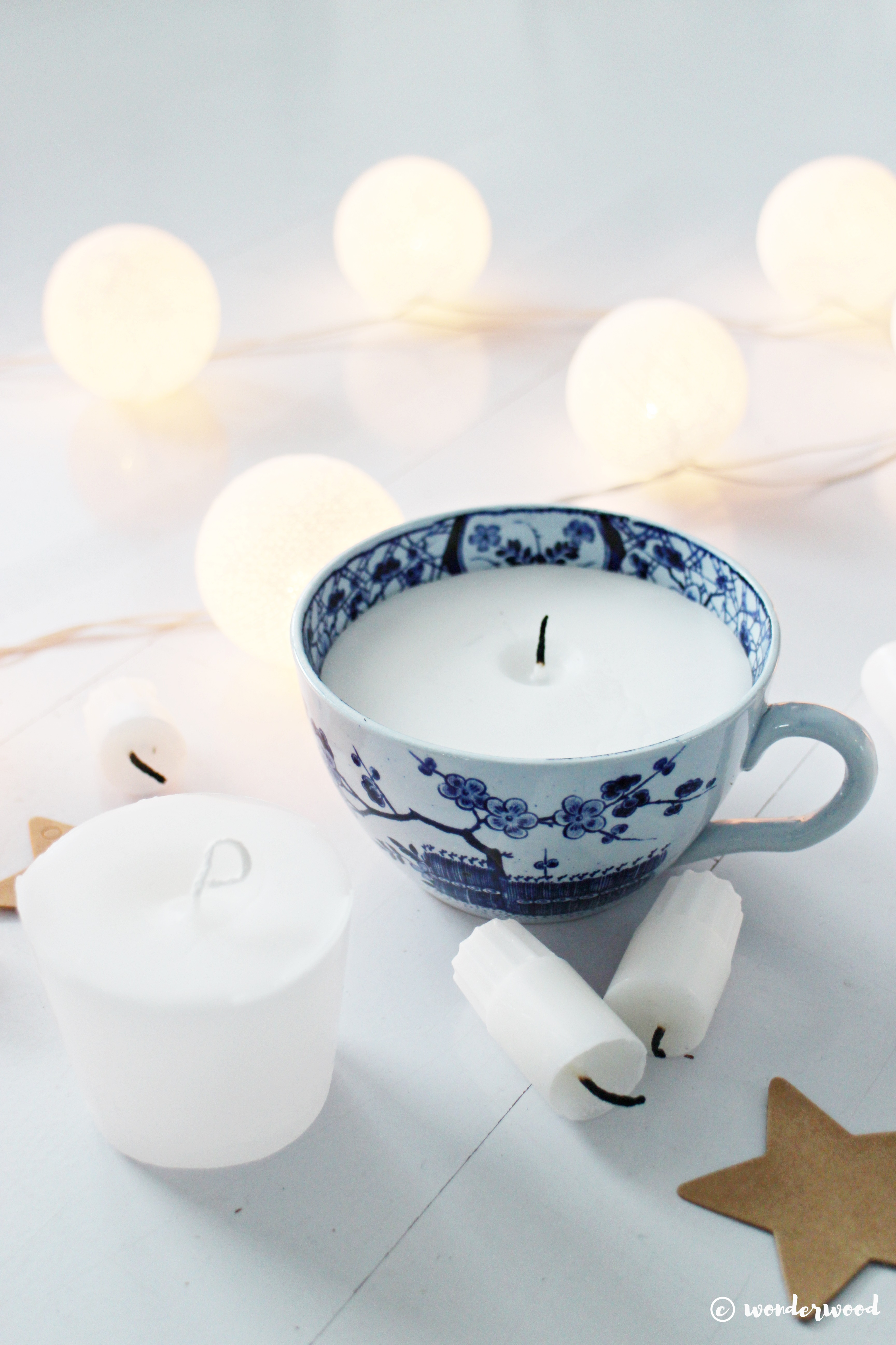 Tips til hjemmelagde julegaver 6: diy stearinlys // Homemade Christmas Gift Ideas 6: diy candle in a cup