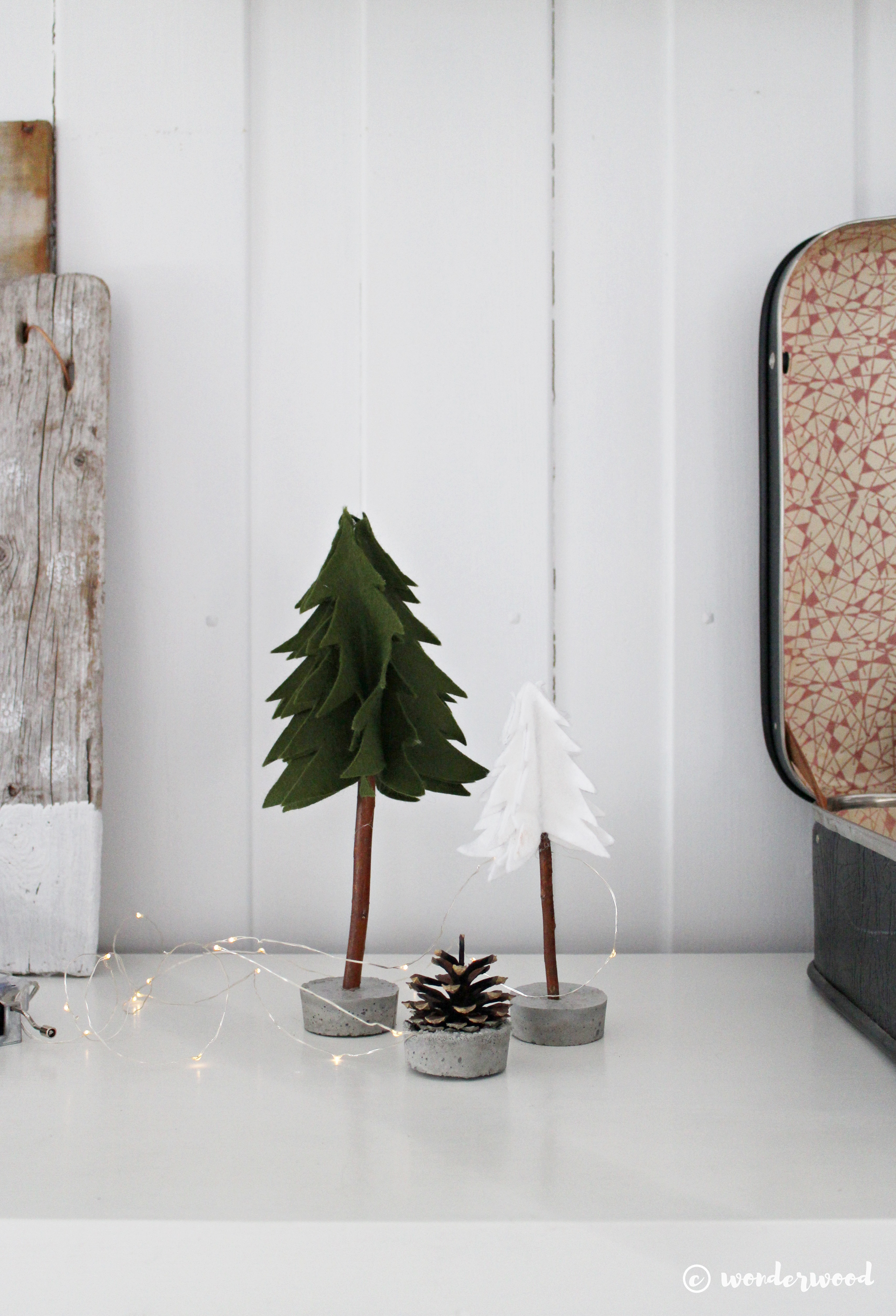 diy filt-tre // diy felt trees