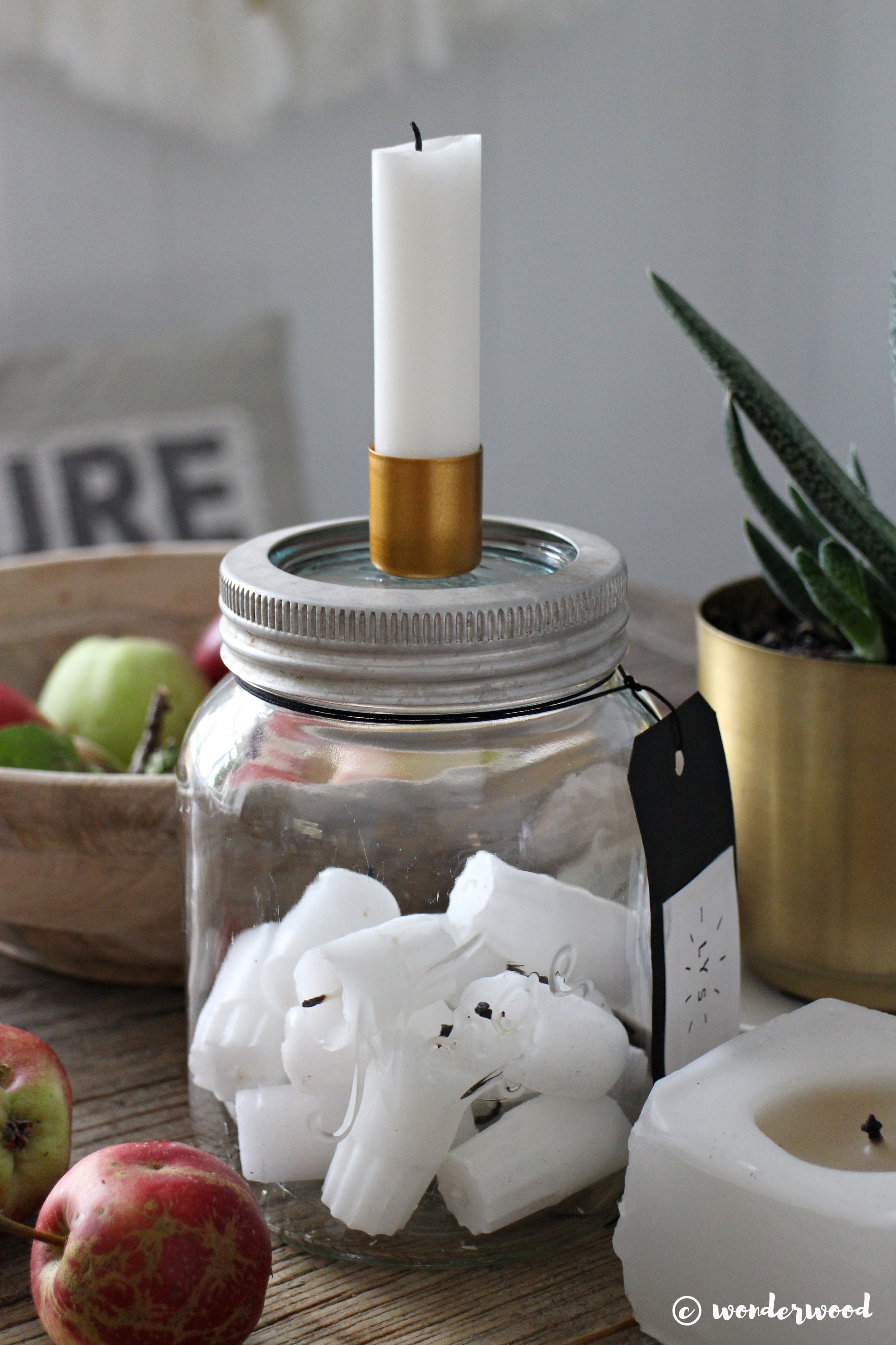 diy stumplysestake // diy candle holder in a jar